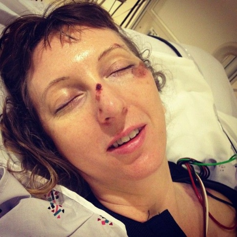 This image of Susanna Schick in her hospital bed at USC Medical Center was posted by friend Jennifer Beatty on her Twitter account.