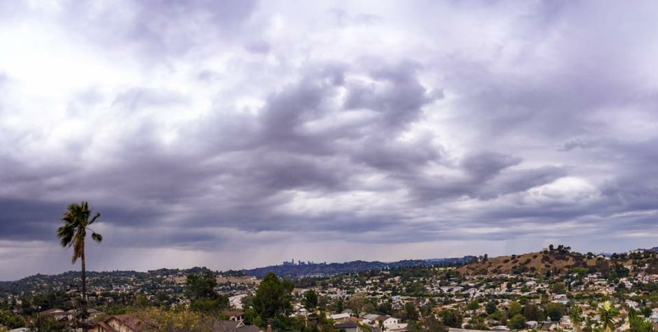 This image shared by our Facebook friend Martin Morales captured the dark skies over Los Angeles in a thunderstorm that brought lightning strikes two weeks ago. Another storm system promised heavy rain and thunderstorms over the mountains of Los Angeles, Ventura and Santa Barbara counties on Thursday, July 30, 2015. The National Weather Service warned of the potential for flash flooding in surrounding communities.