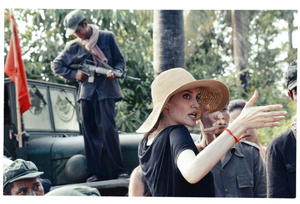 "Angelina Jolie on the set of ""First They Killed My Father,"" which she co-directed with Cambodian filmmaker Rithy Panh."