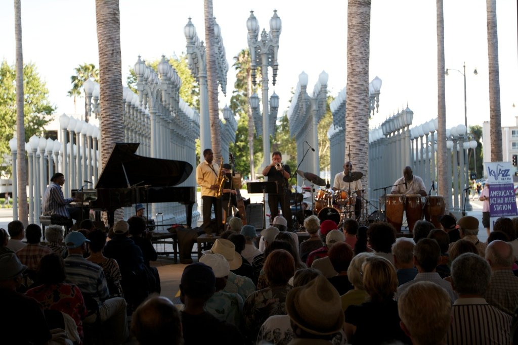 A jazz concert at LACMA on June 29, 2014.