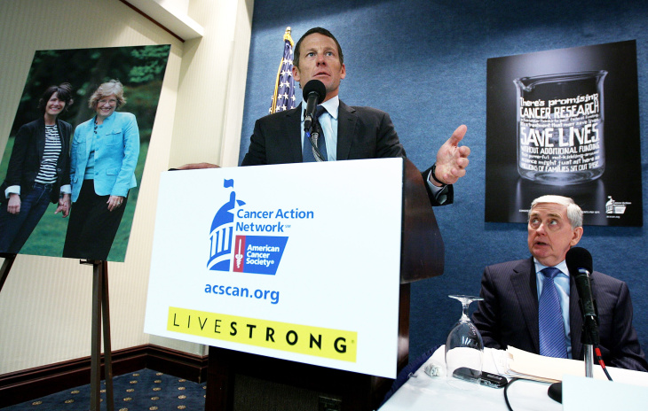Lance Armstrong Lobbies Against Spending Cuts For Cancer Research In DC