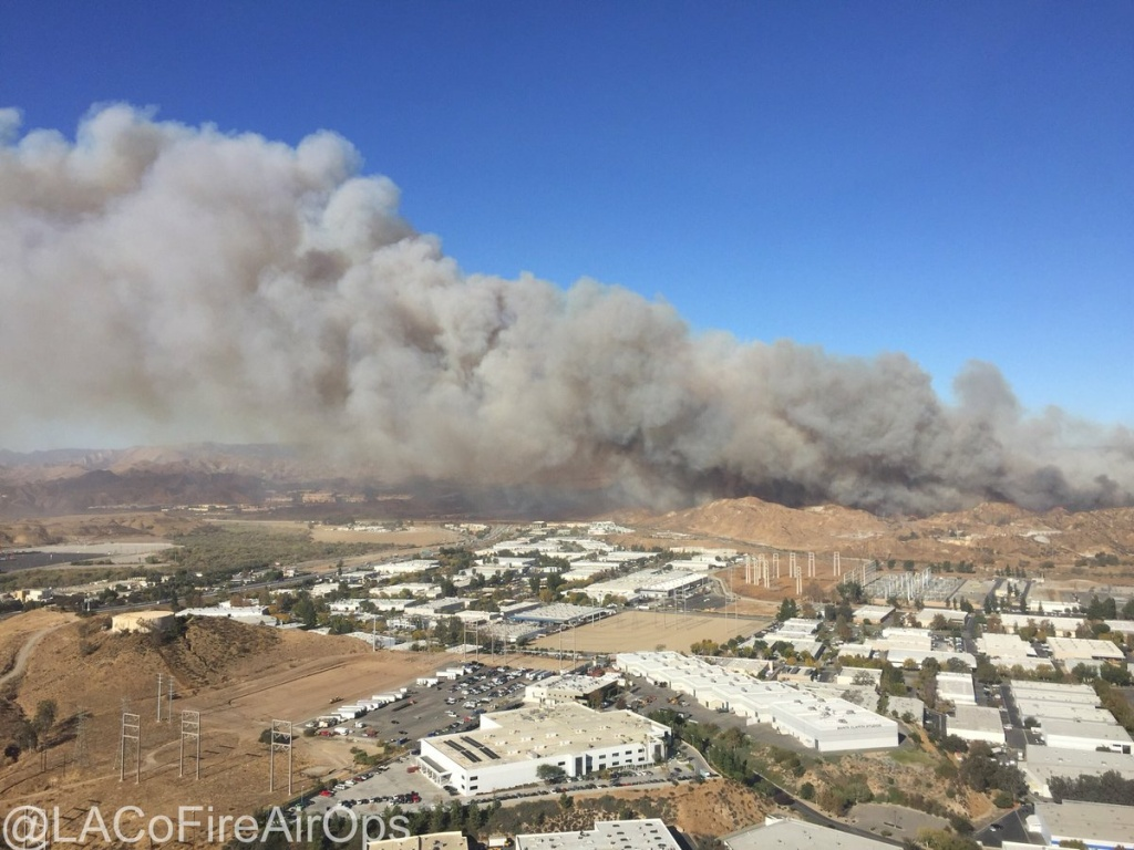 The Rye Fire in Santa Clarita has grown to 1,000 acres.