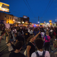 Protestors march through the streets of St. Paul, Minnesota after the death of Philando Castile on July 7, 2016. Castile was shot and killed by a police officer during a traffic stop on July 6, 2016 in Falcon Heights, MN.