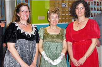 KPCC's Kitty Felde and some of the other Firtharians at the Friends of the English Regency dance.