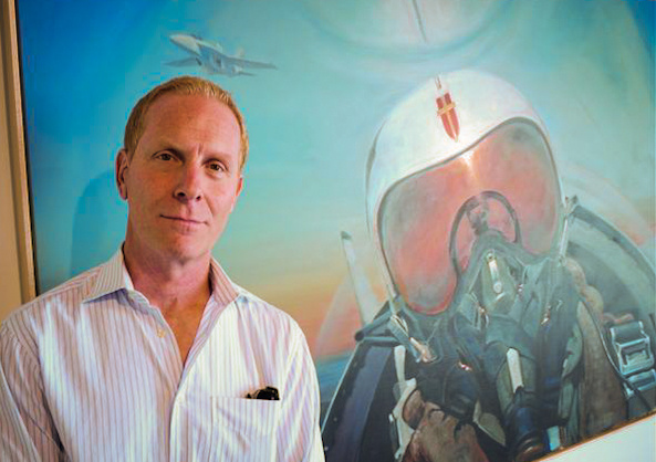Artist Jorg Dubin has lived in the area since the sixties. His paintings of the El Toro Marine Air Station are the Great Park Gallery's inaugural exhibit.