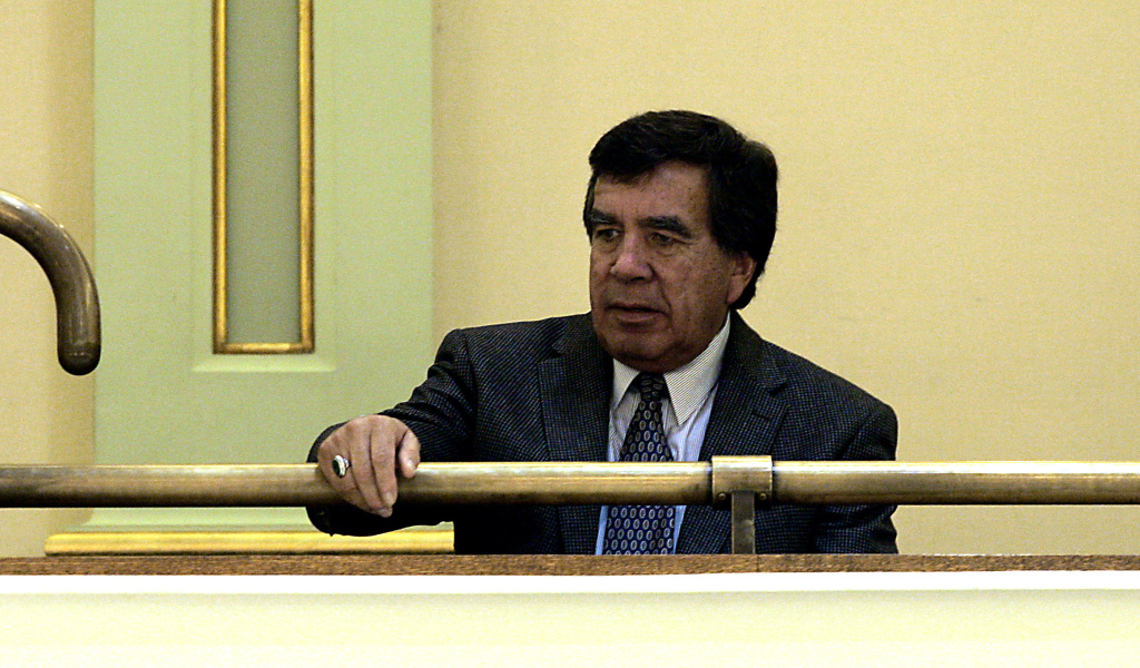 In this 2006 file photo, Tribal Chairman Richard Milanovich watches as a gaming compact agreement reached with Gov. Arnold Schwarzenegger fails to get approval from the state Assembly, at the Capitol in Sacramento.