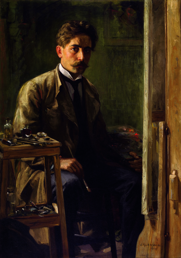 Joseph Kleitsch, Self-Portrait, 1909. Oil on canvas, 54 x 38 inches. Private Collection
