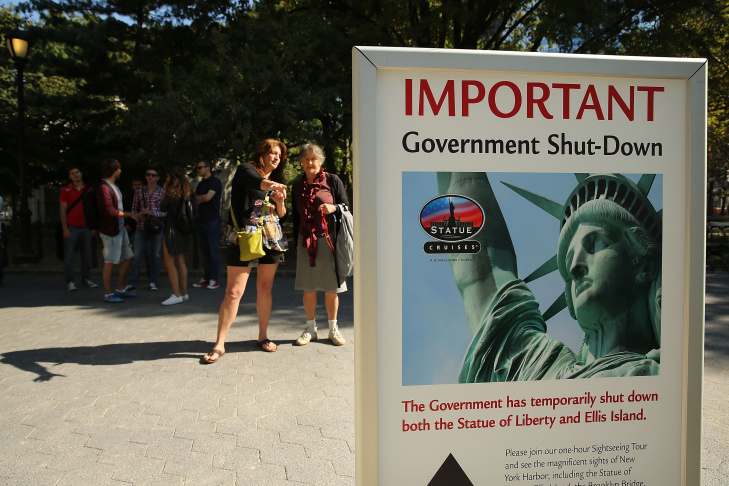 Government Shutdown Closes Statue Of Liberty