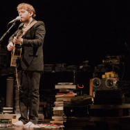 "Singer/songwriter Gabriel Kahane performing his song cycle, ""The Ambassador."""