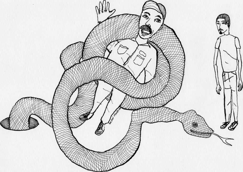 Snake, plumber, artist.
