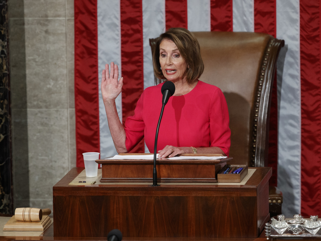 House Speaker Nancy Pelosi said in a speech Thursday to the new Congress that Democrats want