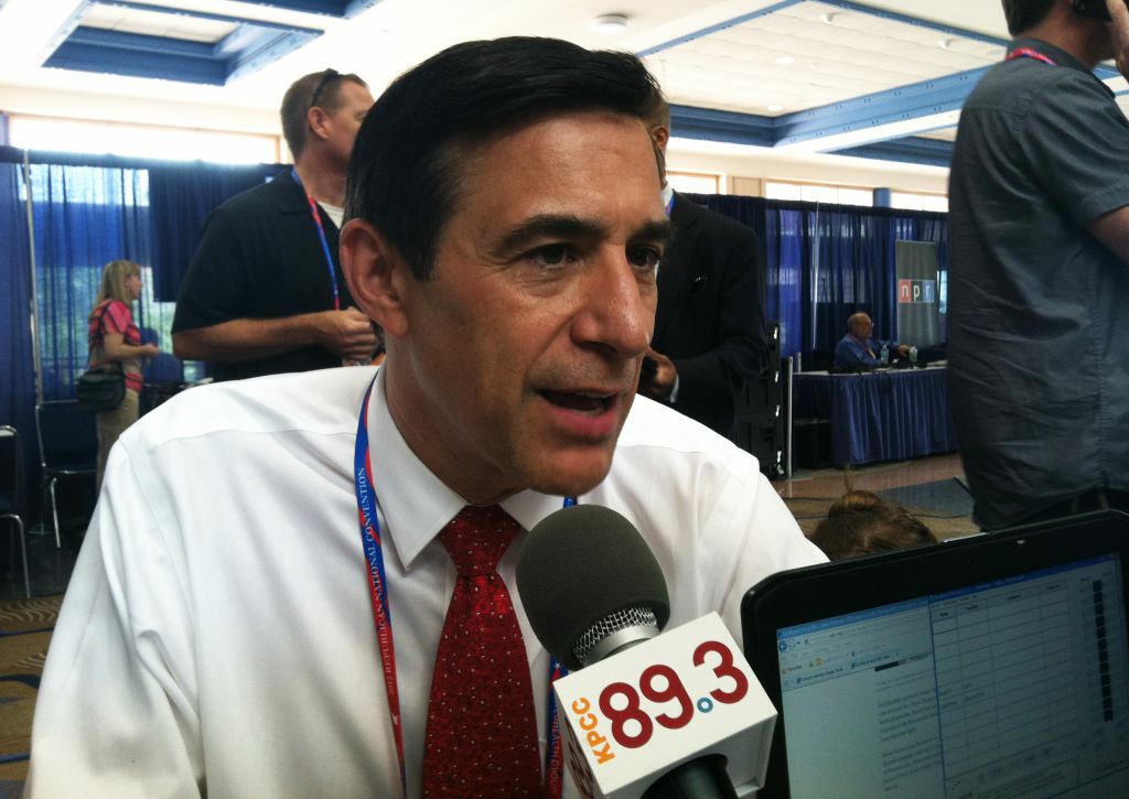 Rep. Darrell Issa sits down for an interview with AirTalk's Larry Mantle at the 2012 Republican National Convention.