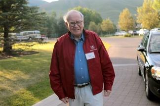 Warren Buffett, chairman of Berkshire Hathaway, attends the Allen & Company Sun Valley Conference.