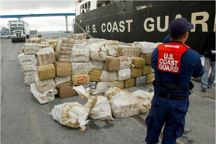 This is what approximately eight tons of marijuana looks like. (Image taken at a 2009 bust in San Diego.)
