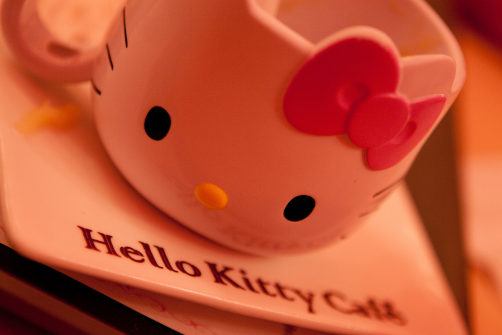 Photo of a cup from Hello Kitty Cafe in Seoul, South Korea.