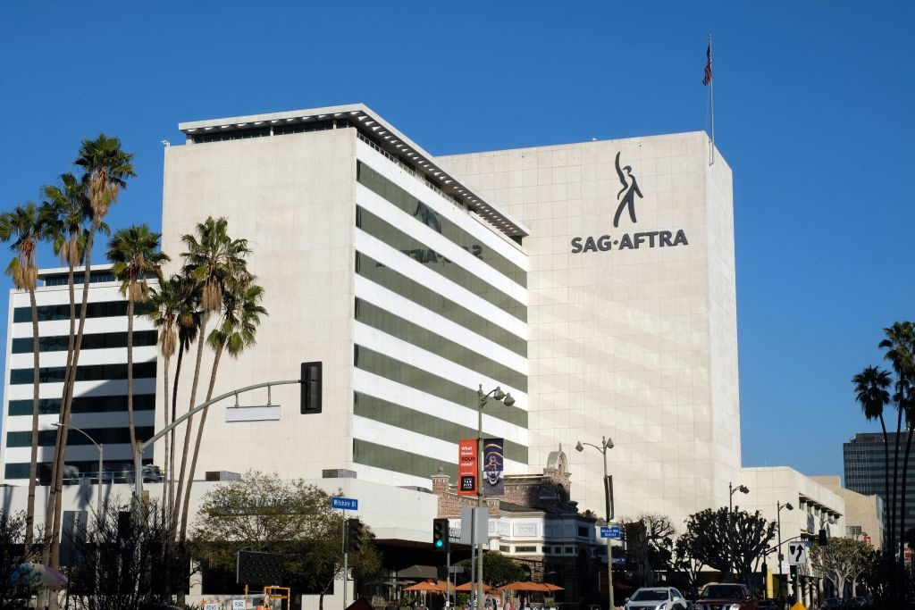 The SAG-AFTRA headquarters building on WIlshire boulevard in Los Angeles on January 10, 2020.