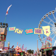 A photo taken of the Los Angeles County Fair.