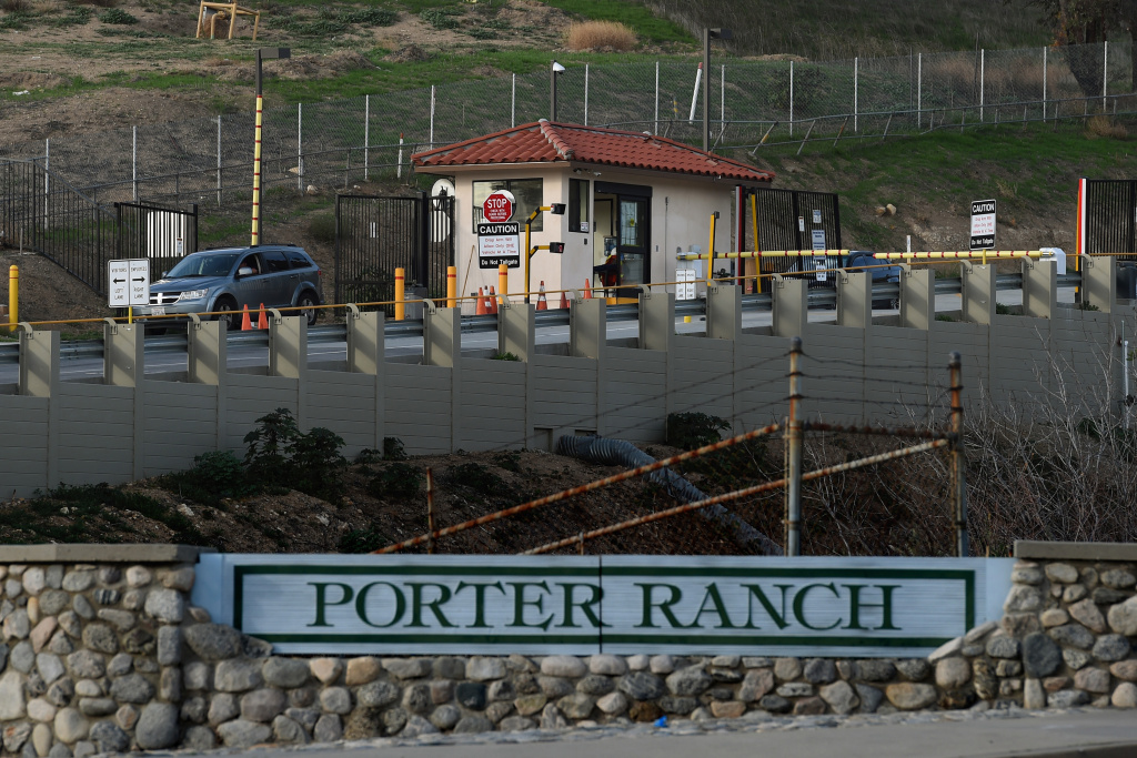 The entrance to the SoCal Gas facility where a gas leak continued from October 2015 through February 2016. Jerry Brown declared a state of emergency in the Porter Ranch community.