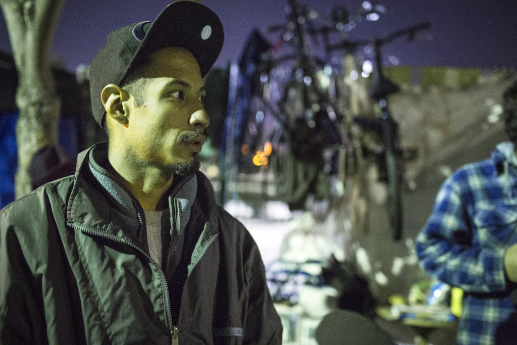 Antonio Garcia, 27, has been homeless in Van Nuys for about two years.