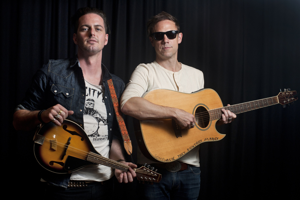 Mikel Jollett and Noah Harmon of The Airborne Toxic Event. The band released their third studio album