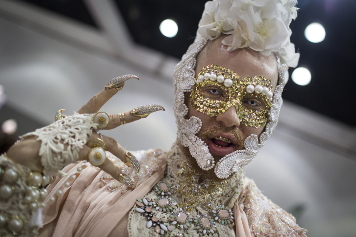 Bryce Rider attends RuPaul's DragCon, the first drag convention in history, at the Los Angeles Convention Center on Saturday, May 16, 2015.