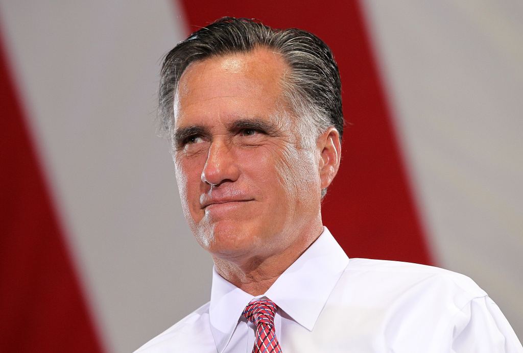 Republican presidential candidate, former Massachusetts Gov. Mitt Romney speaks during a campaign rally at Somers Furniture on May 29, 2012 in Las Vegas, Nevada.
