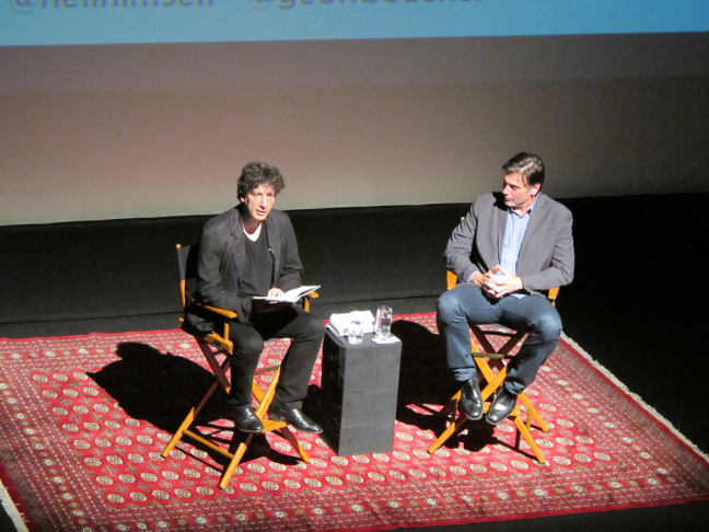 Neil Gaiman in conversation with Geoff Boucher at the Alex Theatre in Glendale