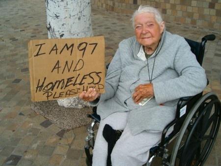 Homeless Senior Citizen