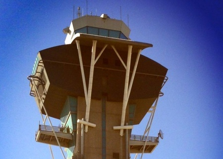 The control tower at LAX, where many graduates of Mt. San Antonio College's aeronautics program might get jobs if they can get past the FAA's tough new employment test.