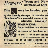 Cannabis propaganda sheet from 1935