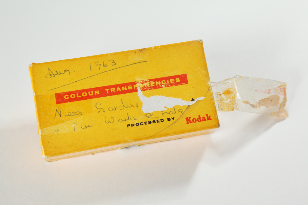 A case of Kodak slides from 1963 is displayed at The Wellcome Collection's 'Things' Exhibition on Oct. 16, 2010, in London, England. Now, Kodak is trying to stay relevant by offering commercial printing services.