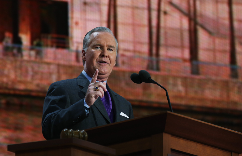 Tampa, FL Mayor Bob Buckhorn speaks during the Republican National Convention at the Tampa Bay Times