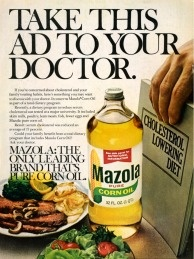 Mazola Corn Oil - Cholesterol - 1975