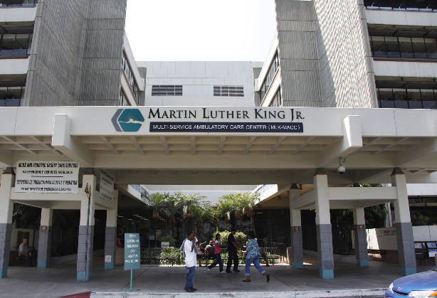 The Martin Luther King, Jr. Multi-Service Ambulatory Care Center, MLK-MACC is seen in Los Angeles. File photo.