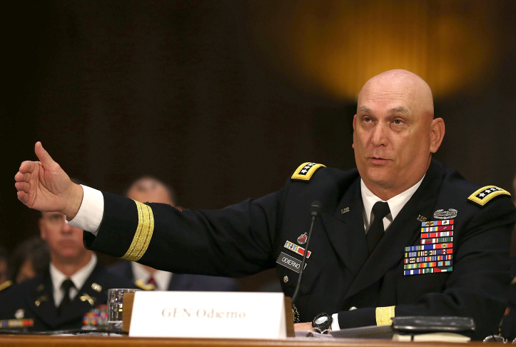 Army Secretary John McHugh And Army Chief Of Staff Odierno Testify At Senate Hearing On Defense Budget