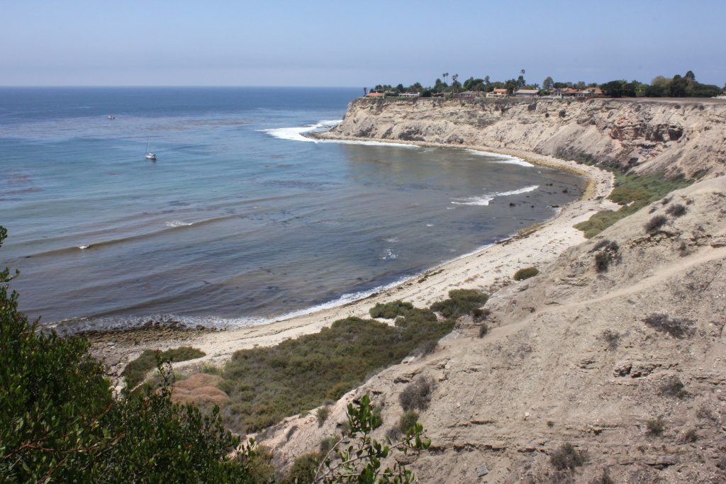 View of Lunada Bay from the southeast bluff.