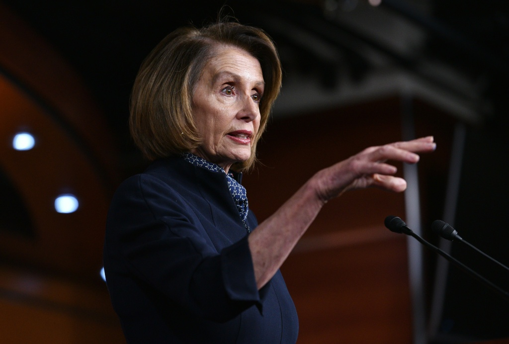 House Minority Leader Nancy Pelosi, D-CA, speaks during a press conference at the US Capitol in Washington, DC on December 13, 2018. (Photo by MANDEL NGAN / AFP)        (Photo credit should read MANDEL NGAN/AFP/Getty Images)