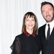 Actors Kate Dickie and Ralph Ineson arrive at the premiere of A24's 'The Witch' at ArcLight Cinemas on February 11, 2016 in Hollywood, California.