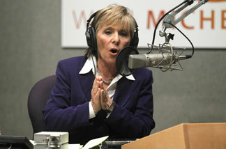 U.S. Senator Barbara Boxer (D-CA) speaks from NPR's Washington, D.C. studios during the Sept. 29 KPCC debate with Republican opponent Carly Fiorina. This was their second debate.