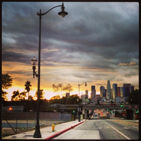 Instagram photo of downtown L.A. from Boyle Heights.