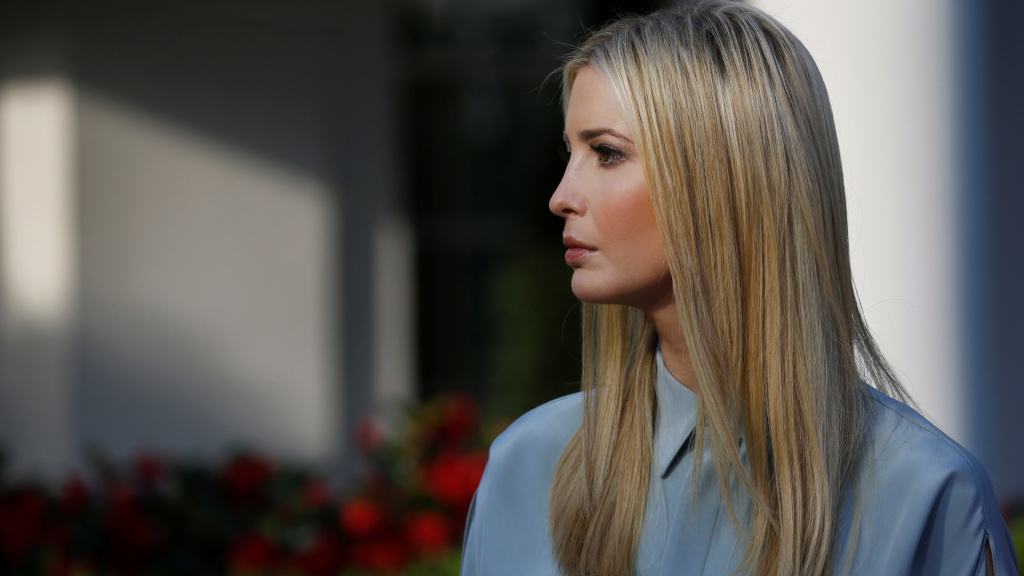 White House senior adviser Ivanka Trump says she is closing her fashion brand so she can focus on her work in Washington. She's seen here at the White House last week.