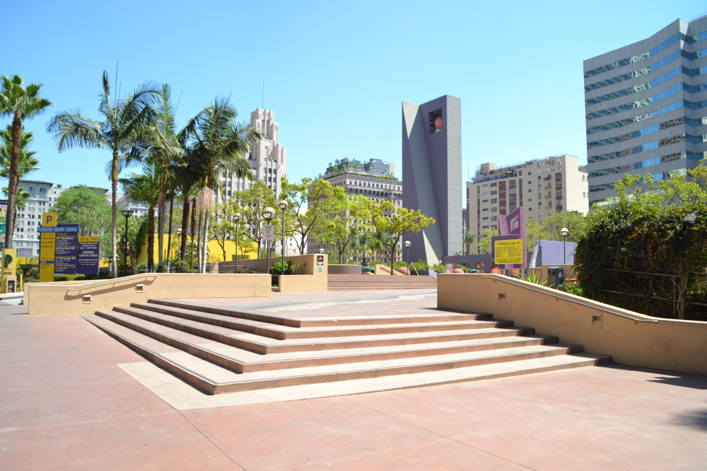 Pershing Square in downtown Los Angeles.