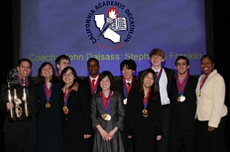 The 2010 Academic Decathlon champions from El Camino Real High School in Woodland Hills, Calif.