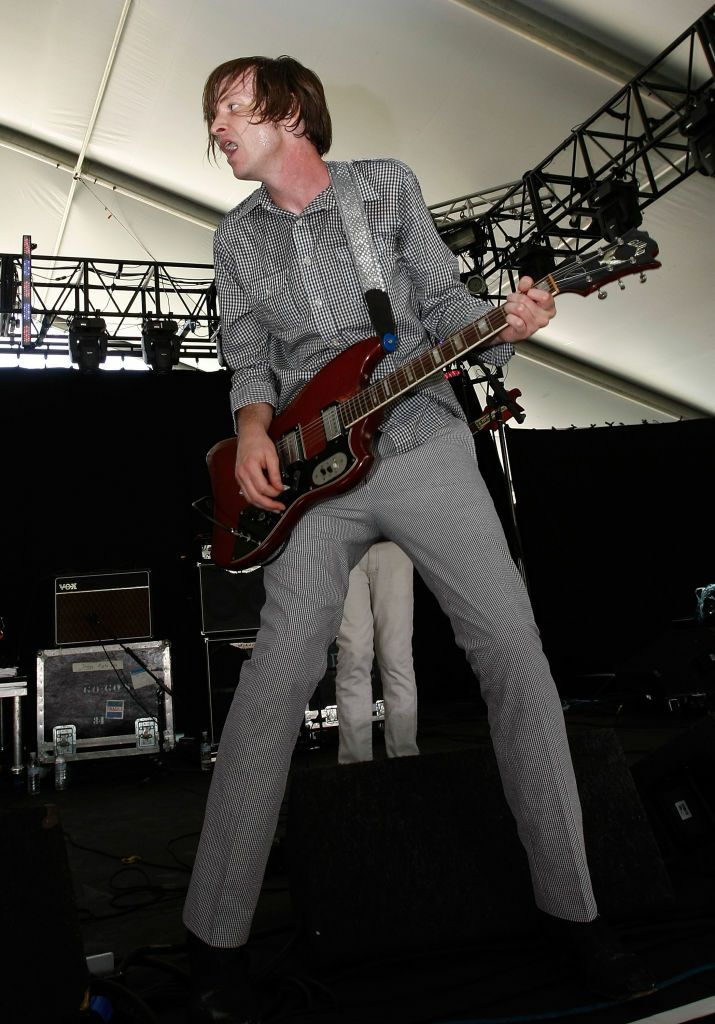 Musician Steve McDonald from Redd Kross performs during day 1 of the Coachella Valley Music and Arts Festival at the Empire Polo Field on April 25, 2008 in Indio, California.