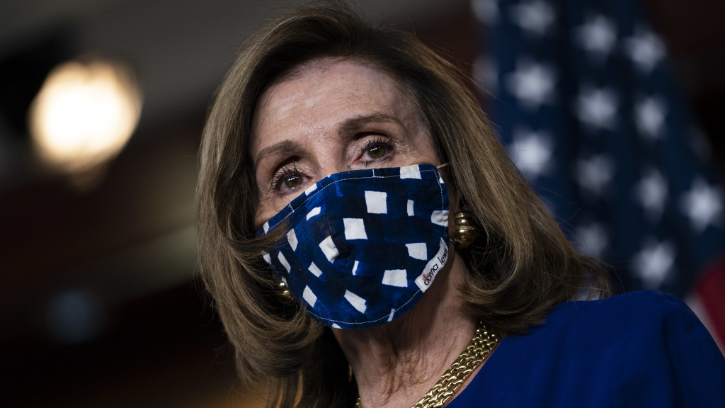 House Speaker Nancy Pelosi, D-Calif., on Capitol Hill last month. The House voted Monday to increase direct payments to Americans above what is provided in the COVID-19 relief legislation President Trump signed on Sunday.