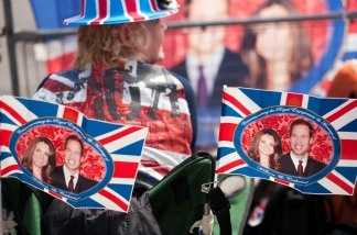 Not all Brits are camped out like these royal fans outside Westminster Abbey in central London, on April 27, 2011.