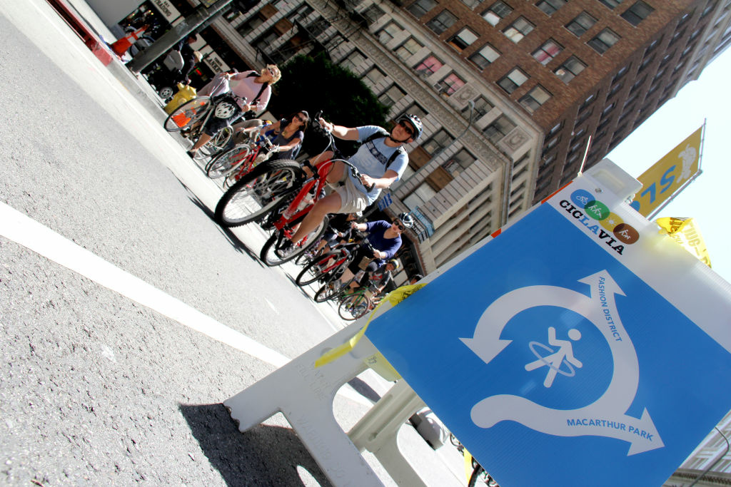 Riders at L.A.'s 4th annual CicLAvia