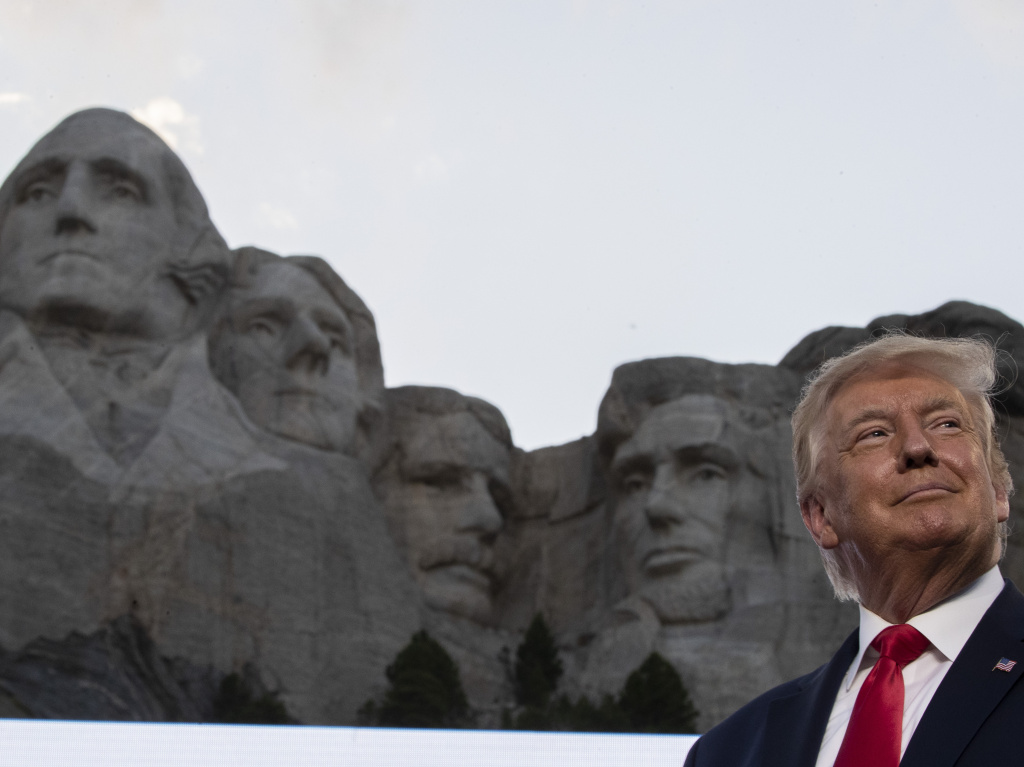 President Donald Trump, had little to say about the coronavirus, during remarks Friday at Mount Rushmore National Memorial, near Keystone, S.D.