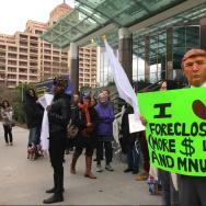 Mnuchin protests