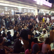 LAX protests over Trump executive order on immigration